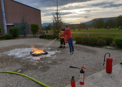Samariterverein Wolfwil Übung mit Feuerwehr